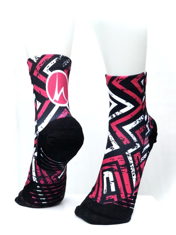 Multifunktions-Socke - Pink Black